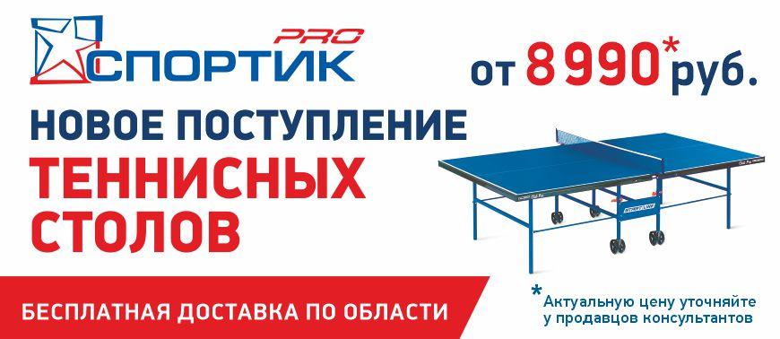 Новое поступление теннисные столы